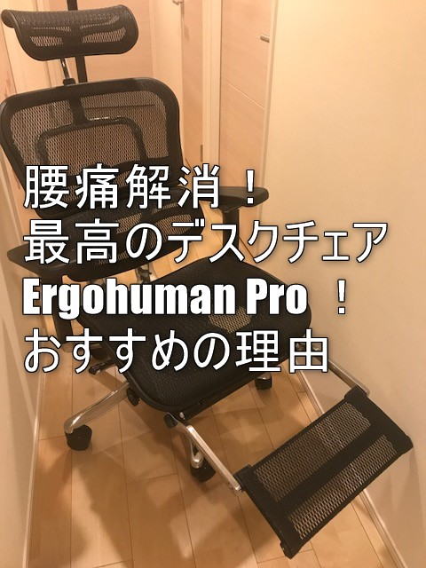 腰痛の私が全力でおすすめする椅子はエルゴヒューマンPro!デスクワークが劇的に改善!座り心地、魅力を徹底解説!