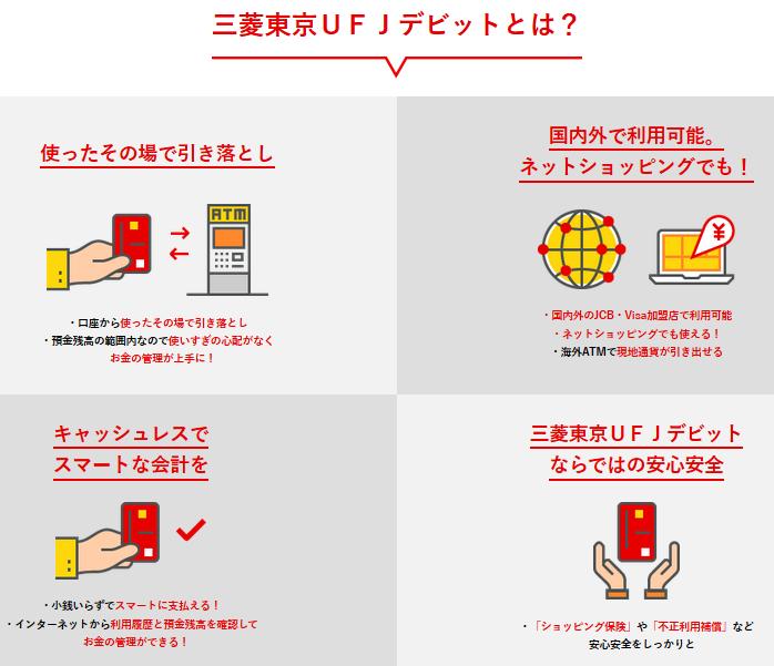 三菱東京UFJ-JCBデビットカード発行で最大6500ポイント(6500円相当)!銀行から直接引き落としで使い過ぎ防止!ポイントサイト経由で更にお得!