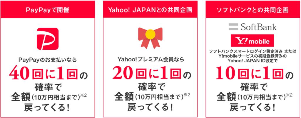 PayPay(ペイペイ)当選者続出!!10回に1回は10万円還元!!のまとめ