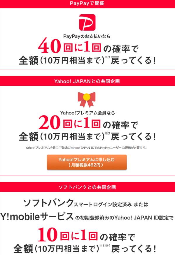 PayPay(ペイペイ)10回に1回は10万円還元!ビックカメラで最もお得に購入する方法!