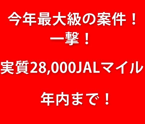 【衝撃】過去最大級のお祭案件!35,000円分+最大1,300円分が貰える!ANAもJALマイルも両軸OK!早期終了必至!