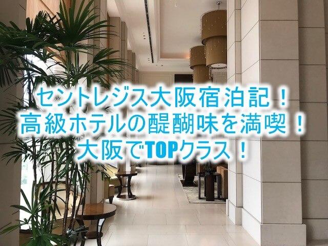セントレジス大阪ブログ宿泊記!ルームレビュー!口コミ、評判以上の大阪高級ホテルの名にふさわしい素晴らしいホテル!