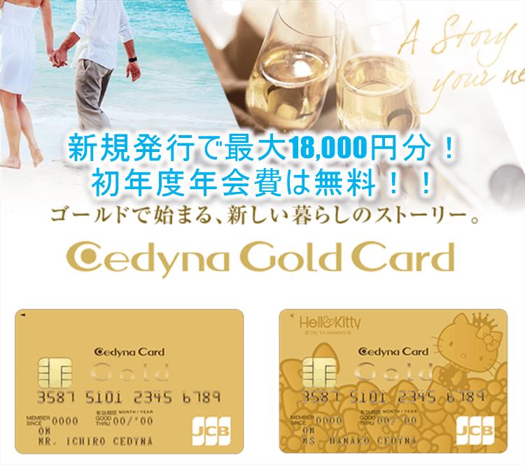 セディナゴールドカード発行なら今がチャンス!最大18,000円相当のポイントが貰える裏ワザ!更に初年度年会費は無料!