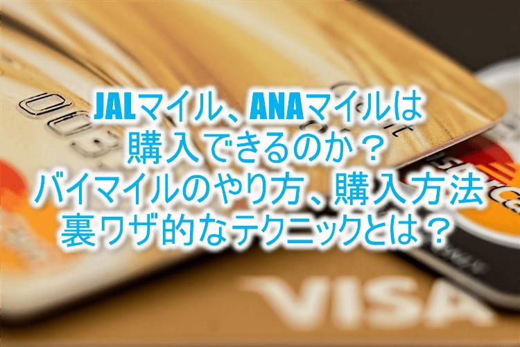 JALマイル、ANAマイルの購入方法!?バイマイル(バイポイント)のやり方と利用方法!短期間で貯める裏ワザ!!
