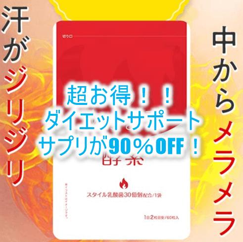 超絶!90%OFFでお得にダイエットサポート!4か月分がたったの1992円で利用が出来ちゃう!!